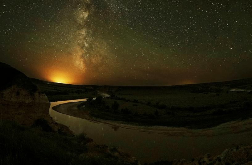 North Dakota river scene